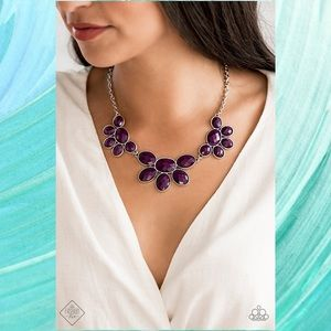 Flair Affair Plum Purple Statement Necklace Set